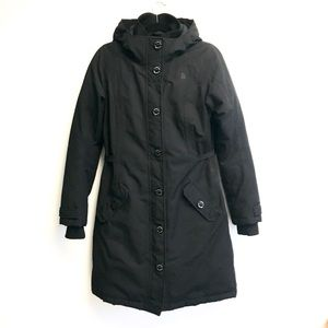 THE NORTH FACE Hooded Parka Black Coat S